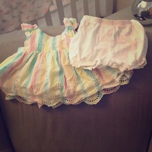Gap eyelet top with carters bloomers